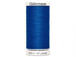 Fil à coudre Gütermann 500m col : 322 bleu
