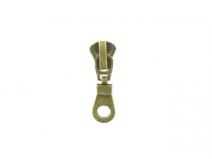 Curseur N°8 pour fermeture injectée Bronze