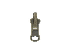 Curseur réversible bronze pour fermeture injectée