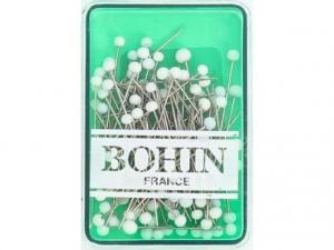 80 Épingles tête de verre blanc 30 x 0,60 mm Bohin