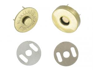 Bouton magnétique cuivre antique