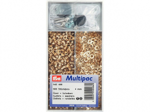 Multipac de 500 oeillets 4mm doré