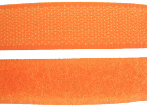 Ruban auto-agrippant 20 mm orange fluo