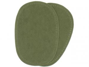 Renfort imitation daim vert olive