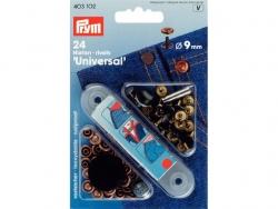 rivets 'universal' 9mm noir + bronze
