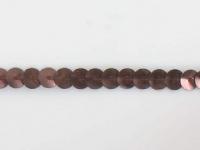 Paillettes sur bande marron