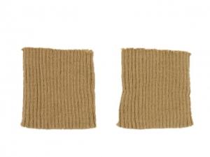 Bord côte poignets chameau