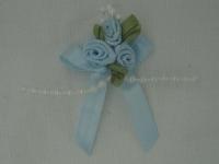 Rose Triple + Perle bleu ciel