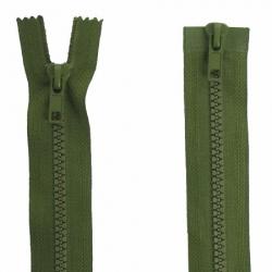 Fermeture double curseur vert armée