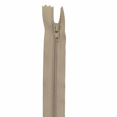 Fermeture 20cm chamois