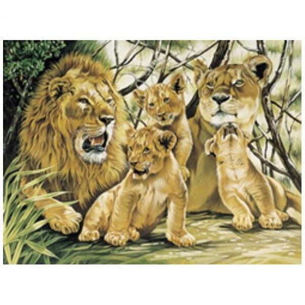 Canevas Complet Famille Lion