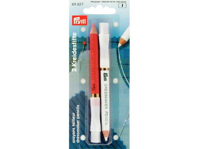 Crayon craie blanc / rose