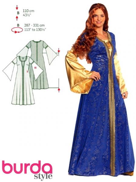 patron couture gratuit robe historique