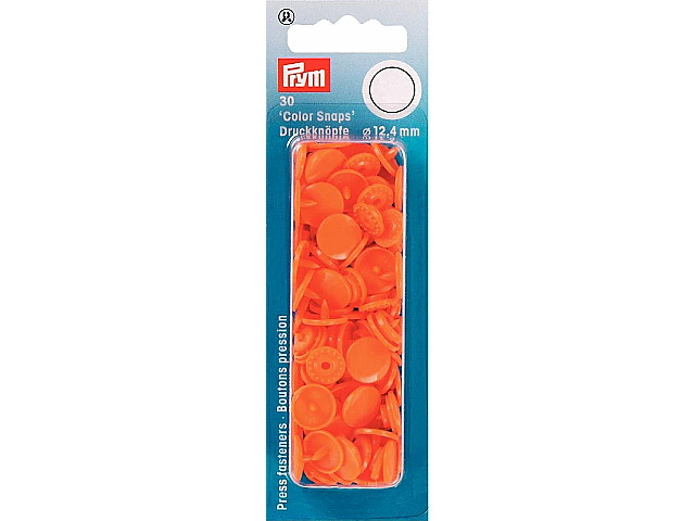 "Boutons Pression "" Color Snaps "" Orange 393140"