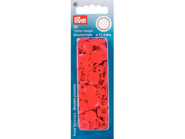 """Boutons Pression """" Color Snaps """" Rouge clair 393101"""