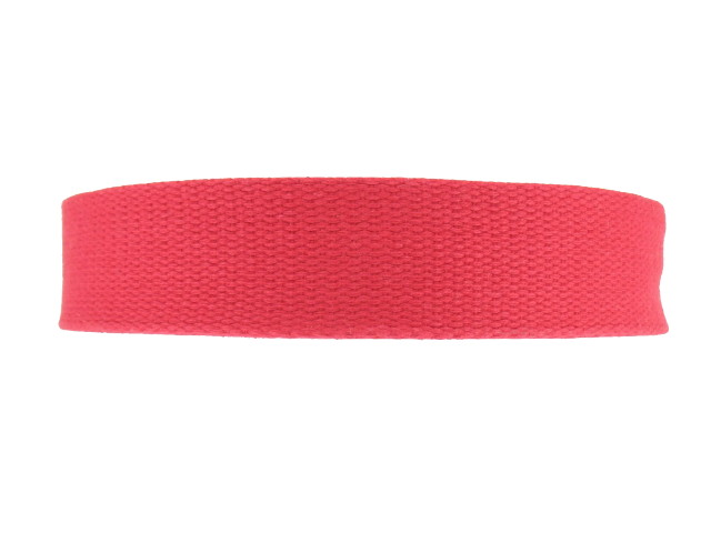Sangle Coton 23mm rouge
