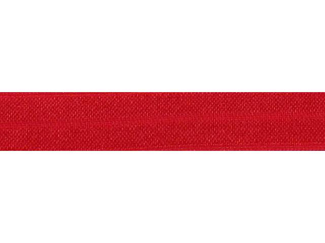 Biais élastique pré plié 15mm Rouge