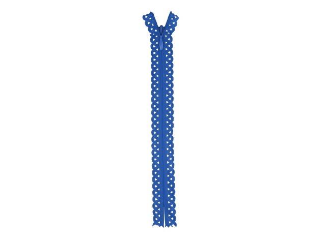Fermeture invisible dentelle Bleu Foncé