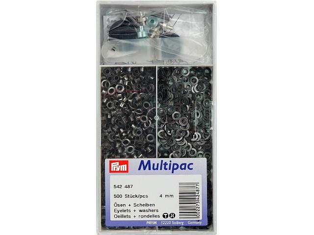 Multipac de 500 oeillets 4mm noir