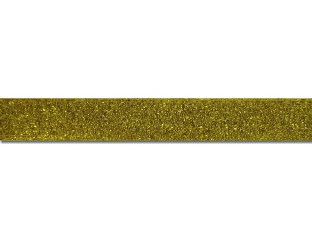 Ruban velours métallisé 15 mm or