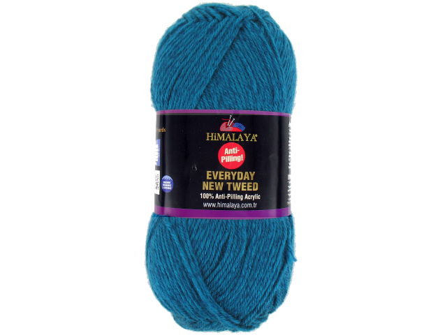 Laine Everyday New Tweed bleu paon 118