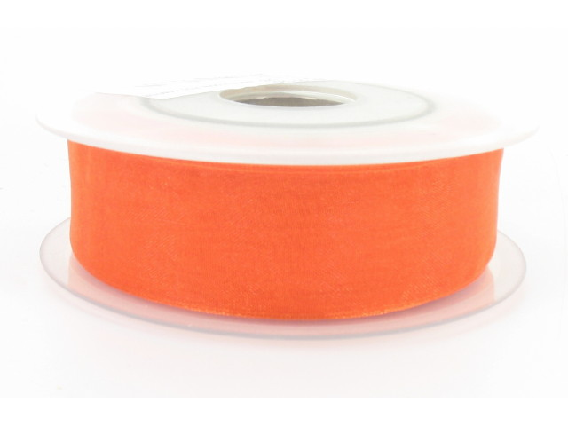 Ruban organdi 25mm orange