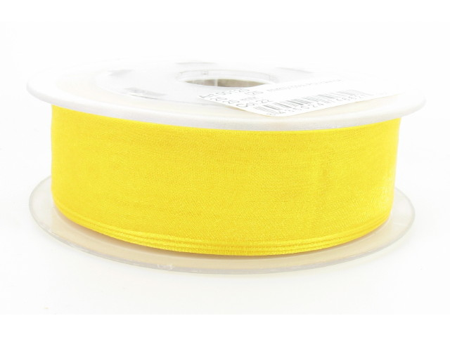 Ruban organdi 25mm jaune