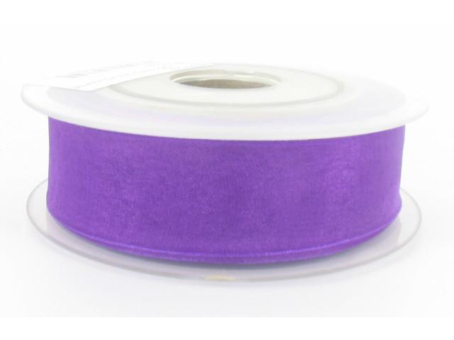 Ruban organdi 38mm violet