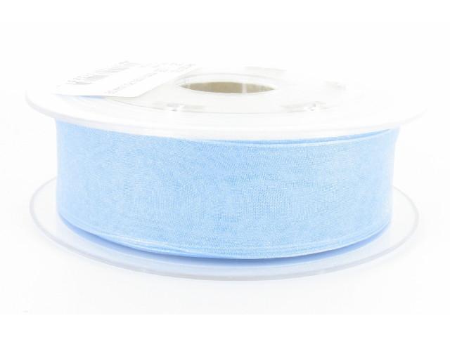 Ruban organdi 38mm bleu clair