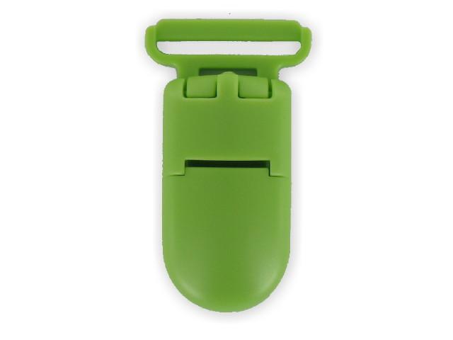 Clips plastique vert pomme