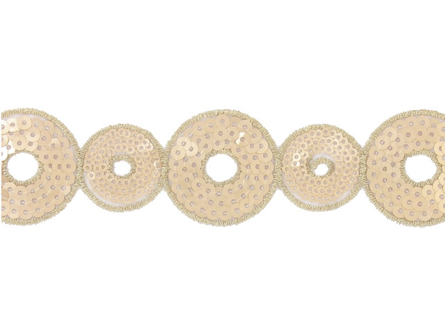 """Galon """"Cercles"""" 40 mm doré"""