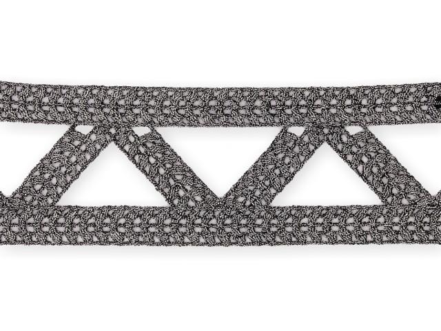 "Galon ""Triangle"" 50mm gris"