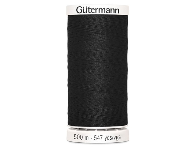 Fil à coudre Gütermann 500m col : 000 noir
