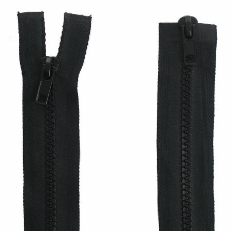Fermeture double curseur noir