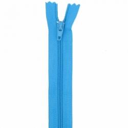 Fermeture 18cm bleu corn