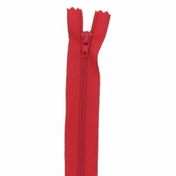 Fermeture 18cm rouge flam
