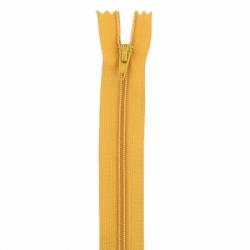 Fermeture 18cm moutarde