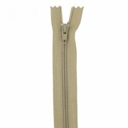 Fermeture 18cm beige foncé