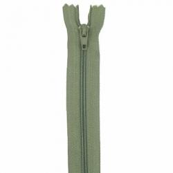 Fermeture 20cm vert mousse