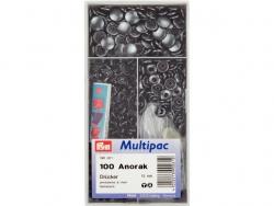 pression anorak 15 mm noir