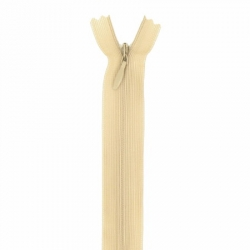 fermeture invisible 22 cm beige