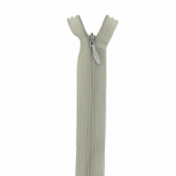 fermeture invisible 22 cm kaki clair