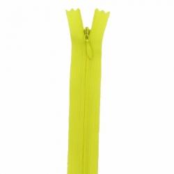 fermeture invisible 22 cm jaune