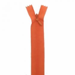 fermeture invisible 22 cm orange