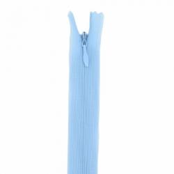 fermeture invisible 22 cm bleu clair