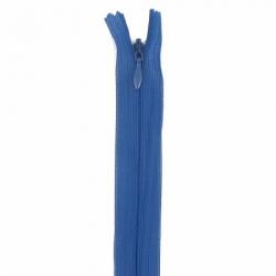 fermeture invisible 22 cm bleu foncé