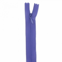 fermeture invisible 22 cm violet