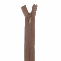 fermeture invisible 22 cm marron clair
