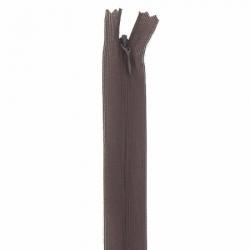 fermeture invisible 22 cm marron