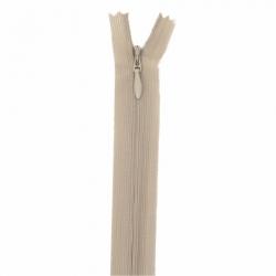 fermeture invisible 22 cm beige foncé